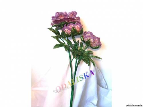 цветы из бисера лилия - Схемы.